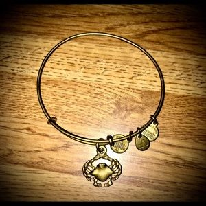 Alex and Ani Gold Crab bracelet